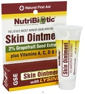 Nutribiotic - GSE Skin Ointment 2% with Lysine - 0.5 oz. by Nutribiotic
