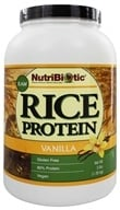 Nutribiotic - Vegan Rice Protein Vanilla - 3 lbs., from category: Health Foods