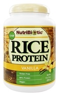 Nutribiotic - Vegan Rice Protein Vanilla Flavor - 1.5 lbs. by Nutribiotic