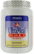Metagenics - UltraMeal Whey Natural Vanilla - 23.2 oz., from category: Professional Supplements
