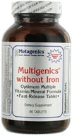 Metagenics - Multigenics without Iron - 90 Tablets - $21.75