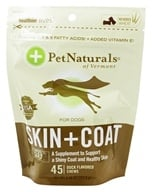 Pet Naturals of Vermont - Skin & Coat Support for Dogs Soft Chews - 45 Chewables (026664886149)