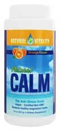 Natural Vitality - Natural Calm Magnesium Anti-Stress Drink Orange Flavor - 16 oz.