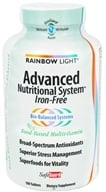 Rainbow Light - Advanced Nutritional System SafeGuard Iron-Free Multivitamin - 180 Tablets by Rainbow Light