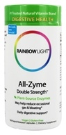Rainbow Light - All-Zyme Double Strength - 180 Vegetarian Capsules, from category: Nutritional Supplements