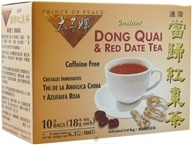Prince of Peace - Instant Dong Quai & Red Date Tea Caffeine Free - 10 Tea Bags CLEARANCE PRICED