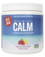 Natural Vitality - Natural Calm Anti-Stress Drink Raspberry Lemon Flavor - 8 oz.