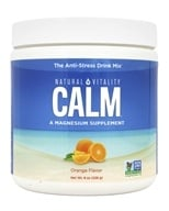 Natural Vitality - Natural Calm Anti-Stress Drink Orange Flavor - 8 oz. - $14.37