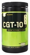 Optimum Nutrition - CGT 10 Creatine Glutamine Taurine Unflavored - 1.32 lbs. (748927023305)