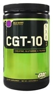 Optimum Nutrition - CGT 10 Creatine Glutamine Taurine Wild Berry - 1.32 lbs. (748927023213)