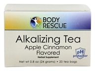 Body Rescue - Alkalizing Tea Apple Cinnamon Flavor - 20 Tea Bags - $4.82