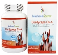 Mushroom Science - Cordyceps Cs-4 400 mg. - 90 Vegetarian Capsules