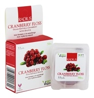 Radius - Vegan Dental Floss Cranberry - 55 Yard(s) by Radius