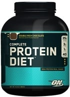 Optimum Nutrition - Complete Protein Diet Economy Chocolate - 4.3 lbs. - $68.51