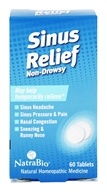 Image of NatraBio - Sinus Relief - 60 Tablets