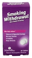 NatraBio - Smoking Withdrawal - 60 Tablets (371401016601)