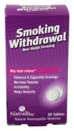 NatraBio - Smoking Withdrawal - 60 Tablets, from category: Homeopathy