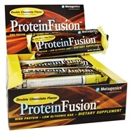 Image of Metagenics - ProteinFusion High Protein Low Glycemic Bar Double Chocolate - 12 Bars