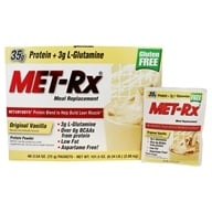MET-Rx - Meal Replacement Protein Supplement Powder Original Vanilla - 40 Packet(s) (786560187053)