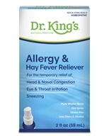Homeopathic Natural Medicine Allergy & Hay Fever Reliever - 2 oz. by King Bio