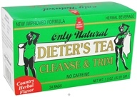 Only Natural - Dieter's Tea Cleanse & Trim Country Herbal Flavor - 24 Tea Bags CLEARANCED PRICED - $4.21