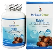 Mushroom Science - Reishi Super Strength 400 mg. - 90 Vegetarian Capsules Formerly Reishi Gano 161