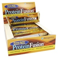 Metagenics - ProteinFusion High Protein Low Glycemic Bar Peanut Butter Crunch - 12 Bars (755571914095)