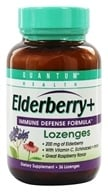 Quantum Health - Elderberry Immune Defense Lozenges Great Raspberry Taste - 36 Lozenges - $7.03
