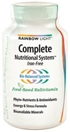 Rainbow Light - Complete Nutritional System Iron-Free - 90 Tablets - $20.99