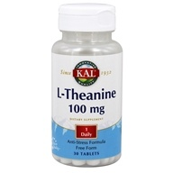 Kal - L-Theanine 100 mg. - 30 Tablets by Kal