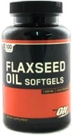 Image of Optimum Nutrition - Flaxseed Oil Softgels Cold-Pressed 1000 mg. - 100 Softgels