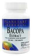 Planetary Herbals - Bacopa Extract 225 mg. - 120 Tablets Formerly Planetary Formulas