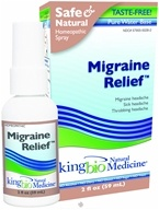 King Bio - Homeopathic Natural Medicine Migraine Relief - 2 oz.