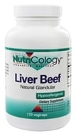 Nutricology - Liver Organic Glandular - 125 Vegetarian Capsules, from category: Nutritional Supplements