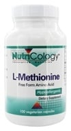 Image of Nutricology - L-Methionine 500 mg. - 100 Vegetarian Capsules
