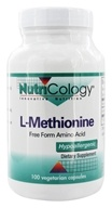 Nutricology - L-Methionine 500 mg. - 100 Vegetarian Capsules by Nutricology