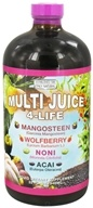 Only Natural - Multi Juice 4-Life Liquid - 32 oz. CLEARANCED PRICED, from category: Health Foods
