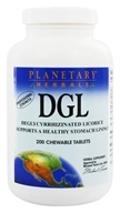 Planetary Herbals - DGL Deglycyrrhizinated Licorice - 200 Chewable Tablets Formerly Planetary Formulas (021078105015)