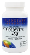 Image of Planetary Herbals - Cordyceps 450 Full Spectrum 450 mg. - 120 Tablets Formerly Planetary Formulas