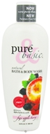Image of Pure & Basic - Natural Bath & Body Wash Fuji Apple Berry - 12 oz.