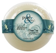 Pure & Basic - Natural Deodorant Bar Soap Green Tea - 6.4 oz. by Pure & Basic