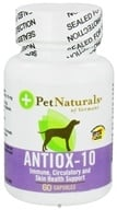 Pet Naturals of Vermont - Antiox-10 for Dogs 10 mg. - 60 Capsules CLEARANCED PRICED (026664874467)