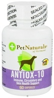 Pet Naturals of Vermont - Antiox-10 for Dogs 10 mg. - 60 Capsules CLEARANCED PRICED