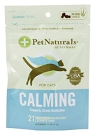 Pet Naturals of Vermont - Calming Support for Cats Soft Chews - 21 Chewables (026664986825)