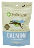 Pet Naturals of Vermont - Calming Support for Medium & Large Dogs Soft Chews Chicken Liver Flavored - 21 Chewables by Pet Naturals of Vermont