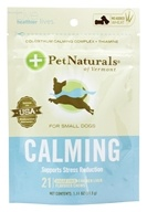 Pet Naturals of Vermont - Calming Support for Small Dogs Soft Chews Chicken Liver Flavored - 21 Chewables (026664886828)