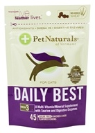 Pet Naturals of Vermont - Daily Best for Cats Soft Chews Chicken Liver Flavored - 45 Chewables (026664986740)