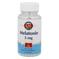 Kal - Melatonin 100% Pure Fast Acting 3 mg. - 60 Tablets