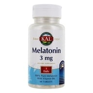 Kal - Melatonin Sustained Release 3 mg. - 60 Tablets - $5.35