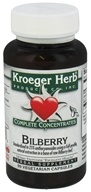 Image of Kroeger Herbs - Complete Concentrate Bilberry 50 mg. - 90 Vegetarian Capsules